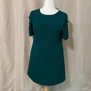 Vince Camuto Size 14 Green Bow Sleeve Dress